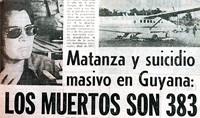 noticia del reverendo jim jones y la tragedia de guyana